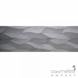 Настінна плитка декор 25х75 Colorker District Denim Calma темно-сіра
