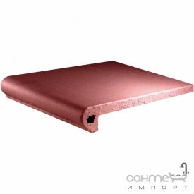 Клинкерная плитка ступень 25x33 Gres de Aragon Cotto Peldano Rojo красная