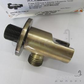 Шлангове під'єднування з утримувачем для душу Fiore Accessori 35 PMSZ Z1 бронза