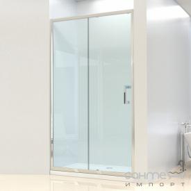 Душевая дверь в нишу Dusel FA-512 стекло прозрачное 140х190