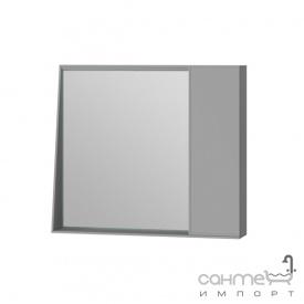 Зеркальный шкаф Ювента Manhattan 80 с LED подсветкой и выключателем серый