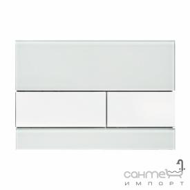 Панель смыва стеклянная (зеленое стекло) TECE TECEsquare 9.240.803 клавиши белые