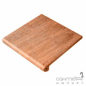 Клинкерная плитка ступень 33x33 Gres de Aragon Columbia Peldano Ref. 24-33 Salmon красная