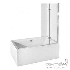 Шторка для ванны Besco Prestigio 80x150 профиль хром стекло прозрачное