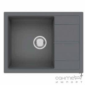Гранітна кухонна мийка Fabiano Cubix 65x50 Grey Metallic сірий металік