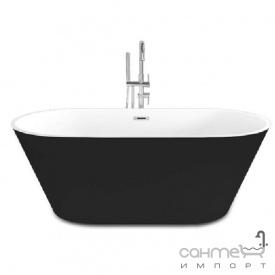 Акриловая отдельностоящая ванна Dusel DU103 белая черная