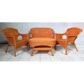 Комплект плетенной мебели Cruzo Лавеа из ротанга софа кресла столик