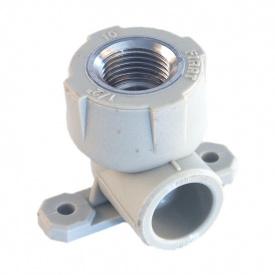 """Куточок для підключення змішувача PP-R 25 мм x 1/2"""" сірий"""