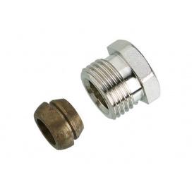 """Компрессионное соединение для стальных и медных труб 16 мм 1/2"""""""