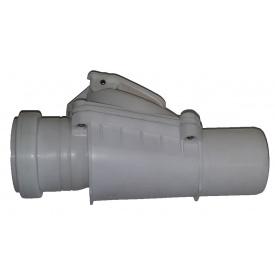 Обратный клапан 50 мм гориз (серого цвета)