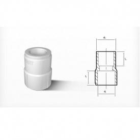 Перехідник PP-R 32x20 мм ВВ білий
