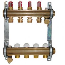 Комплект штангових розподілювачів для підлогового опалення з витратоміром (4 відводи)