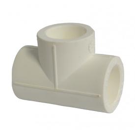 Трійник PP-R 32 мм білий