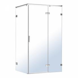 NEMO душевая кабина прямоугольная 120x80x195см правая распашная прозрачное стекло 8мм зеркальный хром VOLLE 10-22-171Rglass
