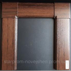 Наличник дверной плaстиковый ламинированный 2,1-1м набор с креплением темный дуб