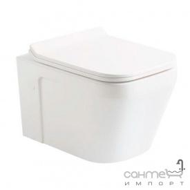 Подвесной безободковый унитаз с сидением quick-fix, soft-close Devit UP 3020120 белый