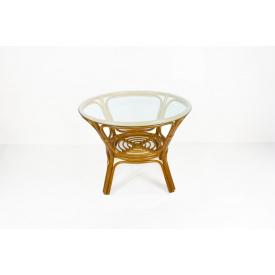Обеденный стол Келек CRUZO натуральный ротанг светло-коричневый (kl0100)