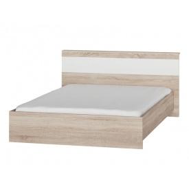 Кровать двуспальная Эверест Соната-1400 сонома + белый