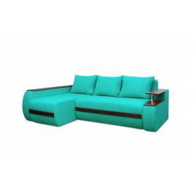 Угловой ортопедический диван Garnitur.plus Граф Бирюзовый 245 см