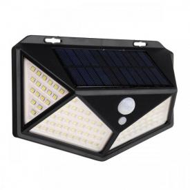 Уличный светильник светодиодный на 2-х аккумуляторах с датчиком движения Черный
