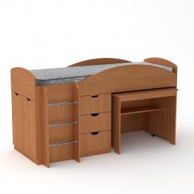 Кровать чердак Универсал Компанит Ольха
