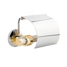 Держатель для туалетной бумаги KUGU Maximus 611C&G Хром с золотистым (3335)
