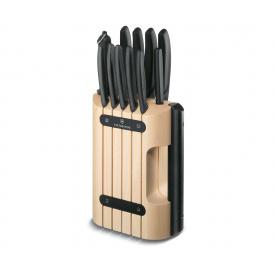 Набор кухонных ножей и подставки Victorinox Swiss Classic Cutlery Block 12 предметов Черные (6.7153.11)