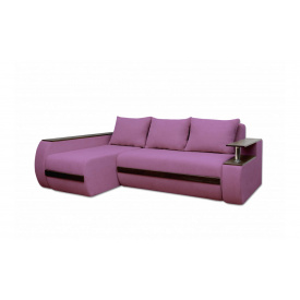 Угловой ортопедический диван Garnitur.plus Граф Сиреневый 245 см