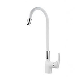 Смеситель для кухни с гибким изливом WELLI Белый(W2279)