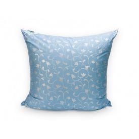 Подушка Leleka-Textile Лебяжий пух 70x70 Чехол Голубой Вензель