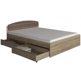 Кровать Эверест Астория с 2-мя ящиками 160 х 200 сонома комби
