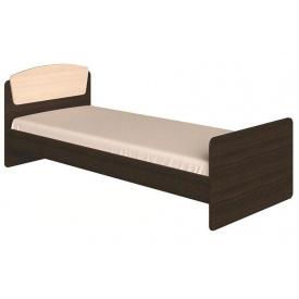 Кровать с матрасом Эверест Астория-2 85х193х74 см Венге темный + Дуб молочный