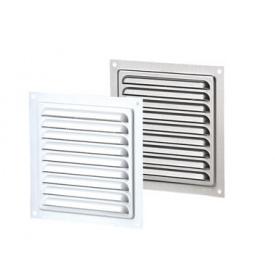 Вентиляционная решетка металлическая однорядная МВМ 200 белая