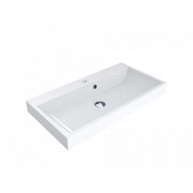 Умывальник врезной из литого мрамора Miraggio Varna 800 Белый глянцевый
