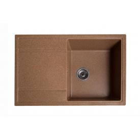 Кухонная мойка из гранита прямоугольная Solid Модус Коричневая