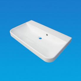 Умывальник врезной из литого мрамора Fancy Marble Carla 800 Белый глянцевый
