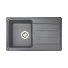 Кухонная мойка из гранита прямоугольная Miraggio Versal Gray