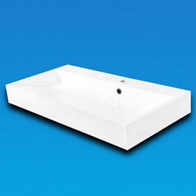 Умывальник накладной из литого мрамора Fancy Marble Ashley 900 Белый глянцевый