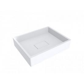Умывальник из литого мрамора накладной Miraggio Capri Белый глянцевый