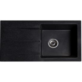 Кухонная мойка из гранита прямоугольная Solid Квадро Черная