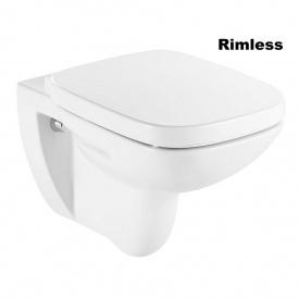 Унитаз подвесной Roca Debba Rimless с сиденьем Soft-close Белый A34H99L000