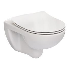 Унитаз подвесной Roca Victoria Rimless с сиденьем Slim Белый A34H398000