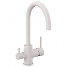 Смеситель для кухни Imprese Daicy-U двухрычажный с подключением питьевой воды Песок 55009-UG