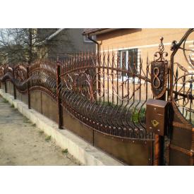 Забор кованый ЧП Брама Волна-2