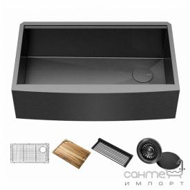 Кухонная мойка c аксессуарами Kraus Kore KWF210-33 темно-серая бронза