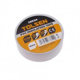 Изоляционная лента Tolsen 19ммх9,2м белая 0,13мм (38024)