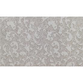 Коричневі шпалери вінілові квіти білі LS Офелія ДХС-1415/6 1,06х10,05 м