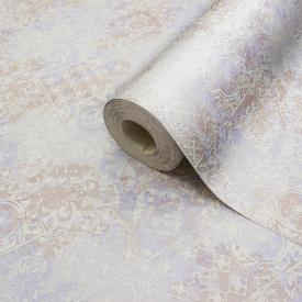 Миючі бежеві шпалери для кухні вінілові плитка паперові LS Ненсі МНК 3-1293 0,53х10.05 м