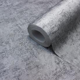 Шпалери для залу гарячого тиснення LS Деко сіро-сріблясті СШТ 8-1217 1,06х10,05 м
