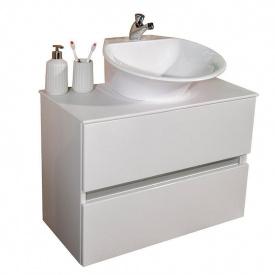 Тумба для ванной комнаты Fancy Marble Rodos 70 с умывальником Nila Белая